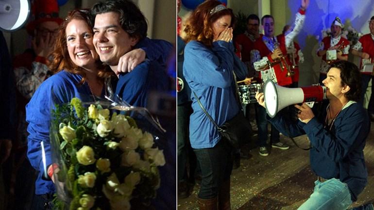 Huwelijksaanzoek tijdens stroomstoring in Alphen aan den Rijn